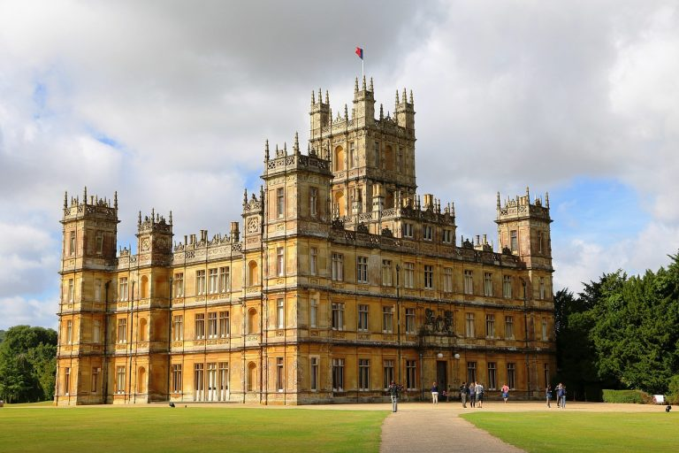 Highclere Castle (Downton Abbey), Festival Day includes a Dance tent, tea lunch tents and carousel in the Gardens